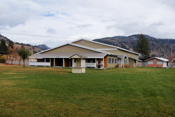 """""""The Pavilion – home base for volunteers and festival staff"""""""